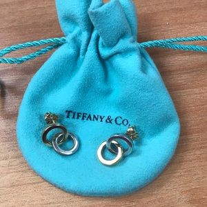 Tiffany & Co double ring post earrings
